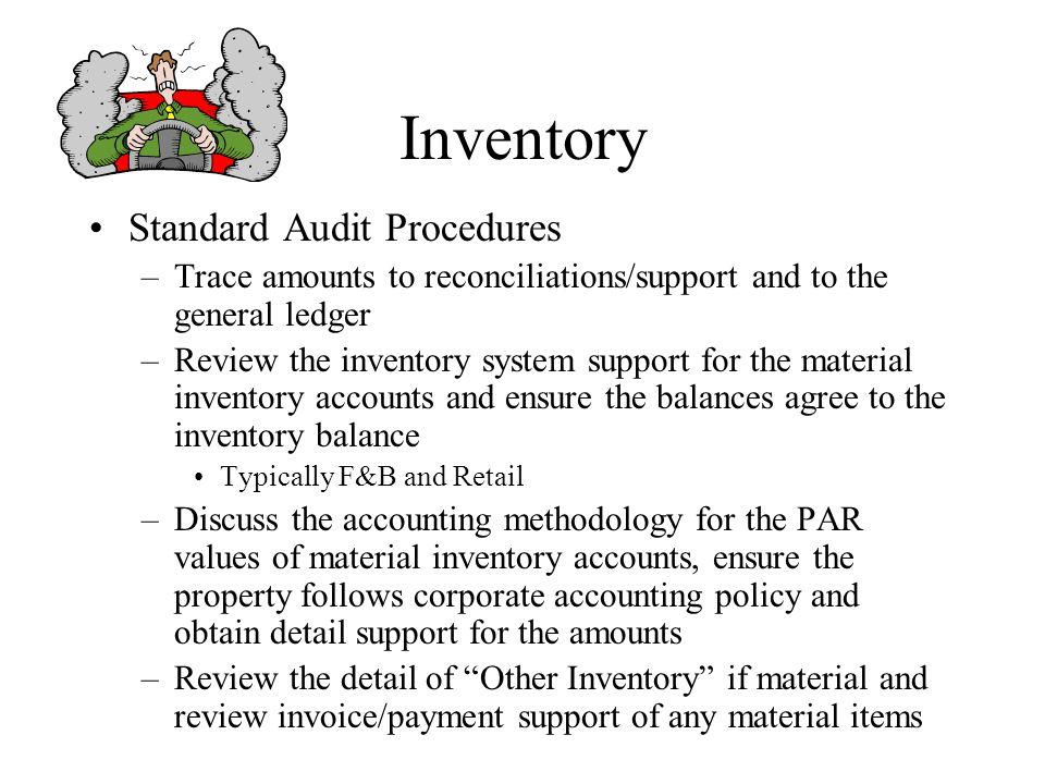 Inventory Standard Audit Procedures