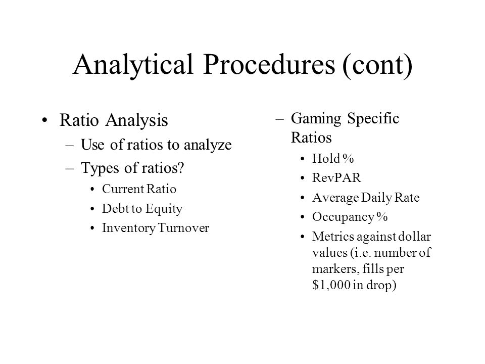 analytical procedures ratio analysis form Analytical procedures, including ratio analysis, are recognized as an essential   access a financial ratios template in google sheets that is connected to.