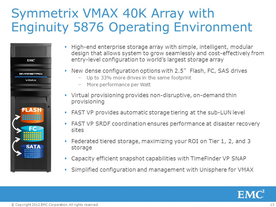 Symmetrix VMAX 40K Array with Enginuity 5876 Operating Environment