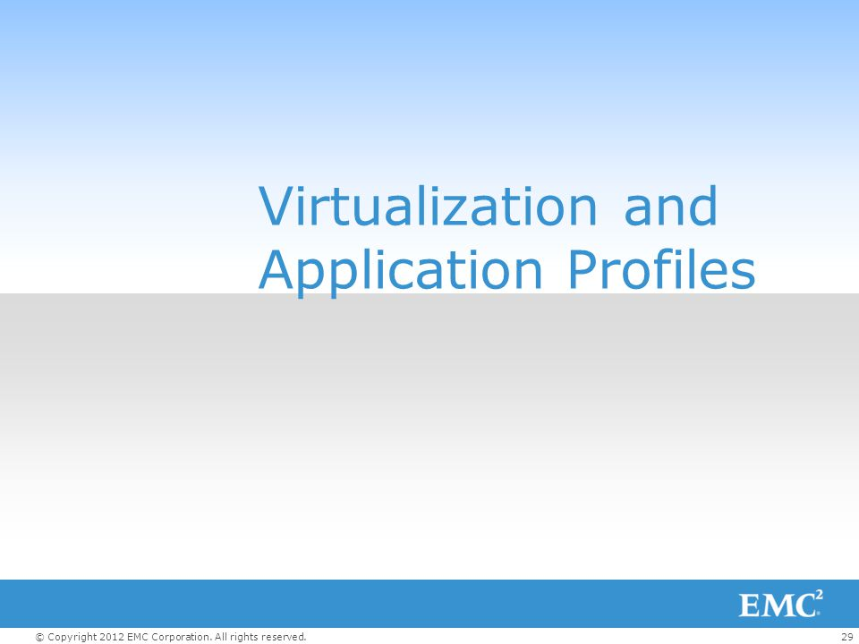 Virtualization and Application Profiles