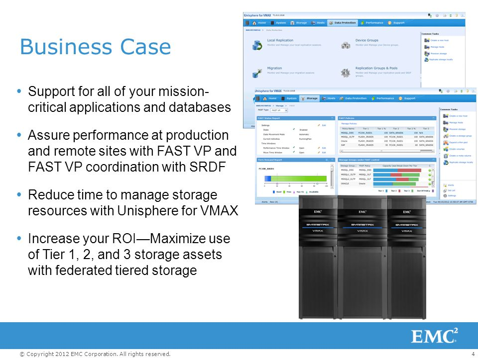 Business Case Support for all of your mission- critical applications and databases.