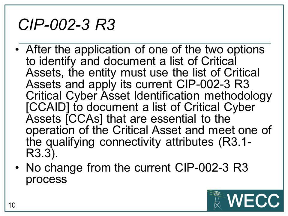 CIP-002-3 R3