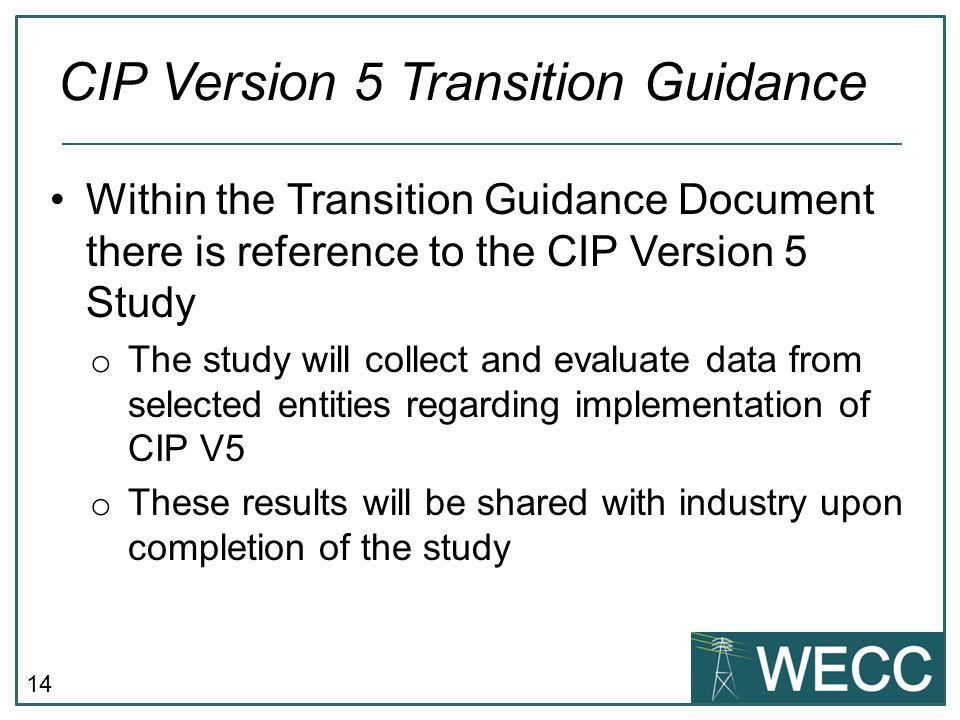 CIP Version 5 Transition Guidance