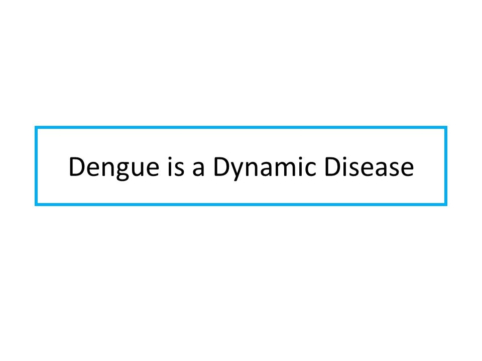 Dengue is a Dynamic Disease