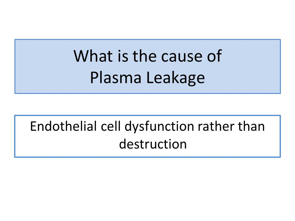 What is the cause of Plasma Leakage