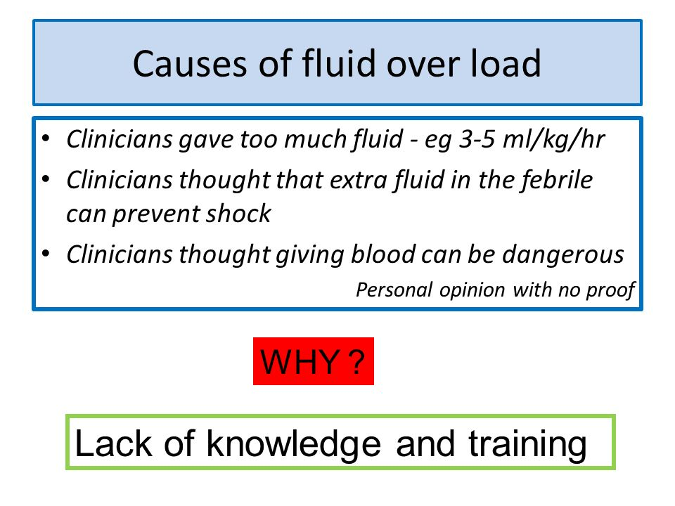 Causes of fluid over load