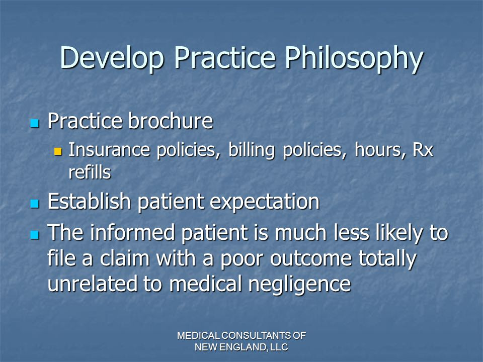 Develop Practice Philosophy