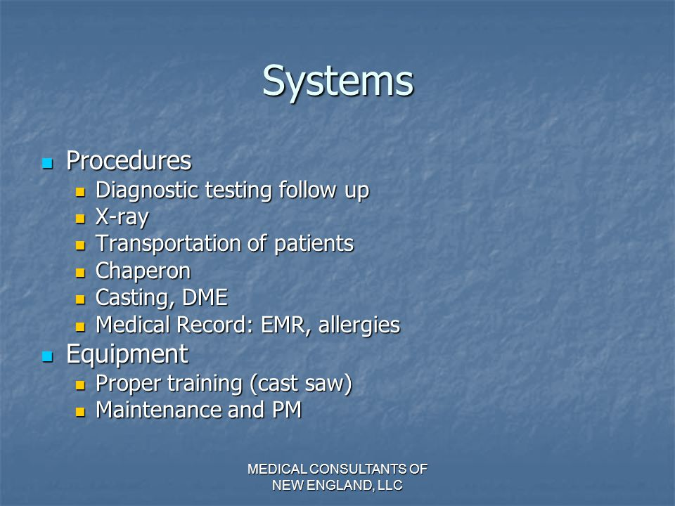 MEDICAL CONSULTANTS OF NEW ENGLAND, LLC