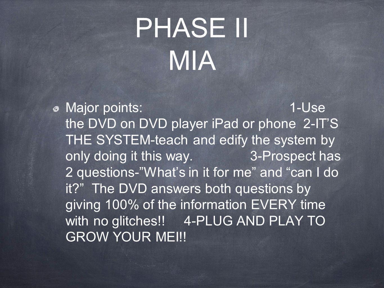 PHASE II MIA