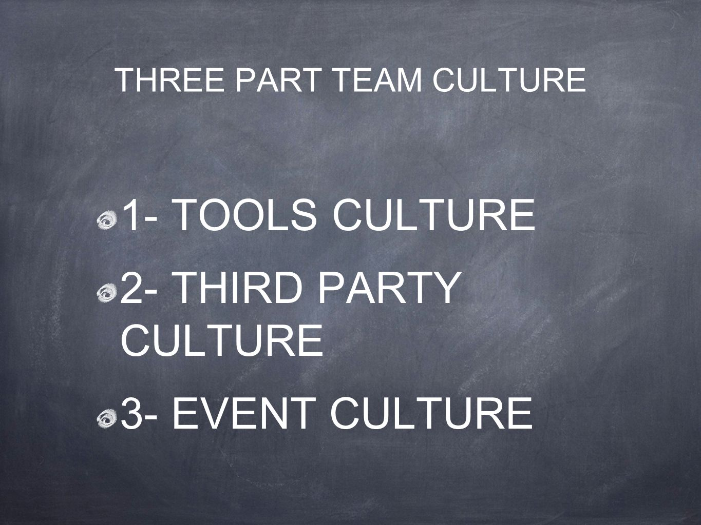 THREE PART TEAM CULTURE