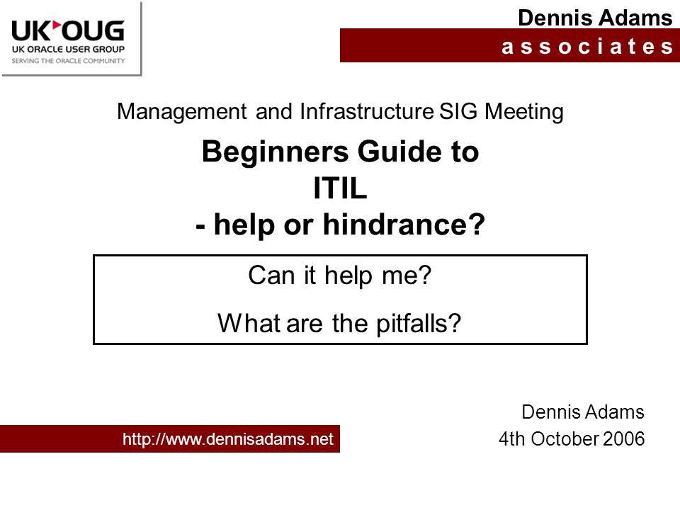 Beginners Guide to ITIL - help or hindrance
