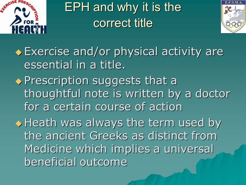 EPH and why it is the correct title