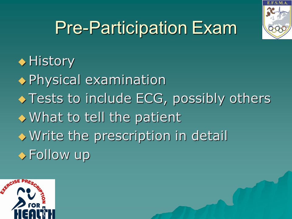 Pre-Participation Exam