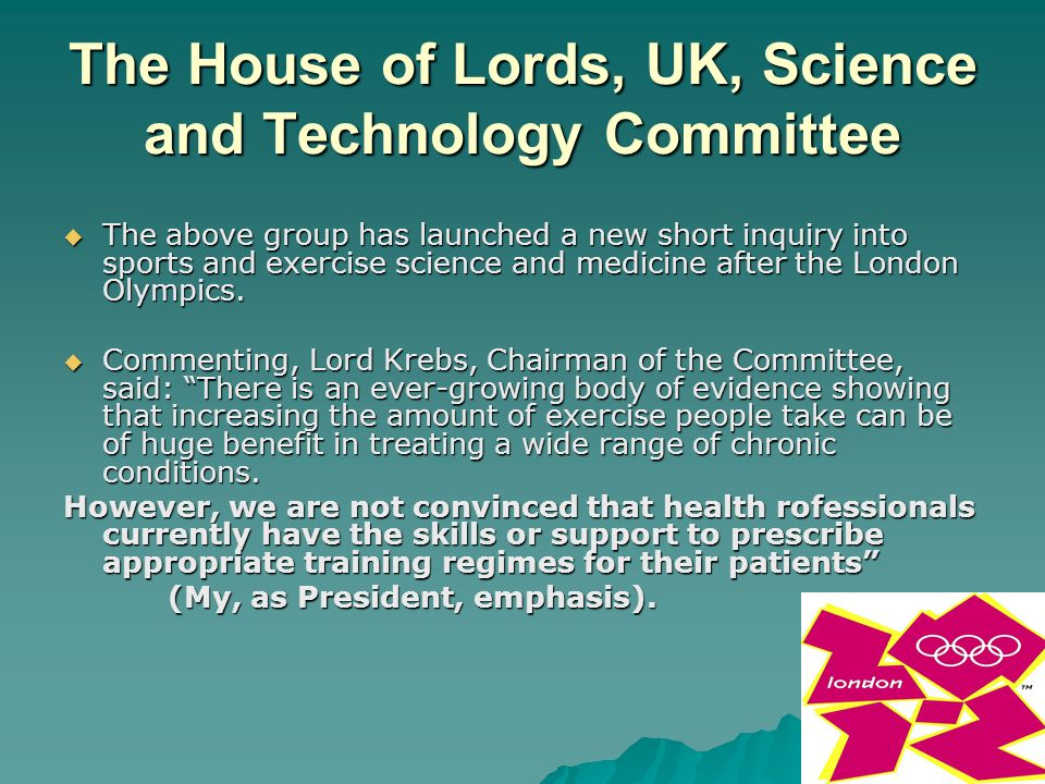 The House of Lords, UK, Science and Technology Committee