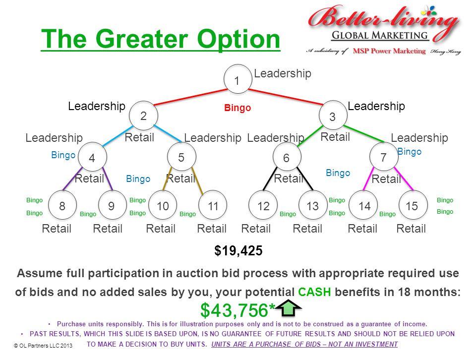 The Greater Option $43,756* $19,425 Leadership 1 Leadership Leadership