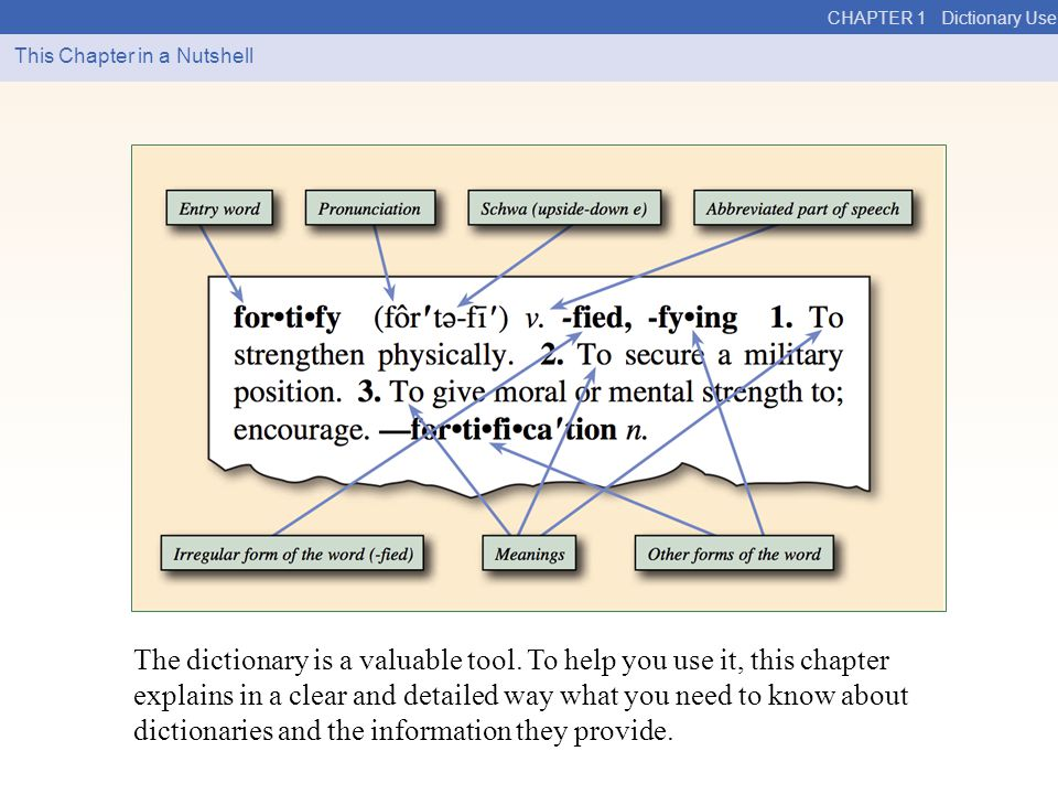 CHAPTER 1 Dictionary Use