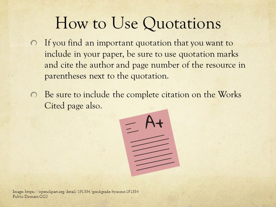 How to Use Quotations