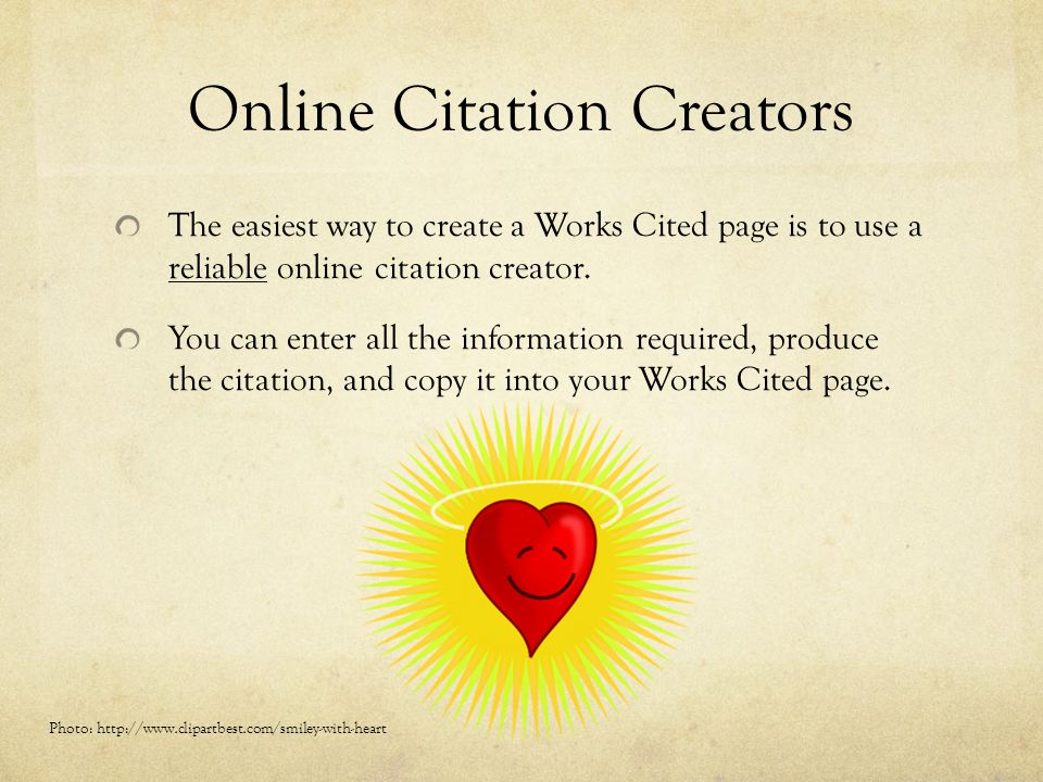 Online Citation Creators