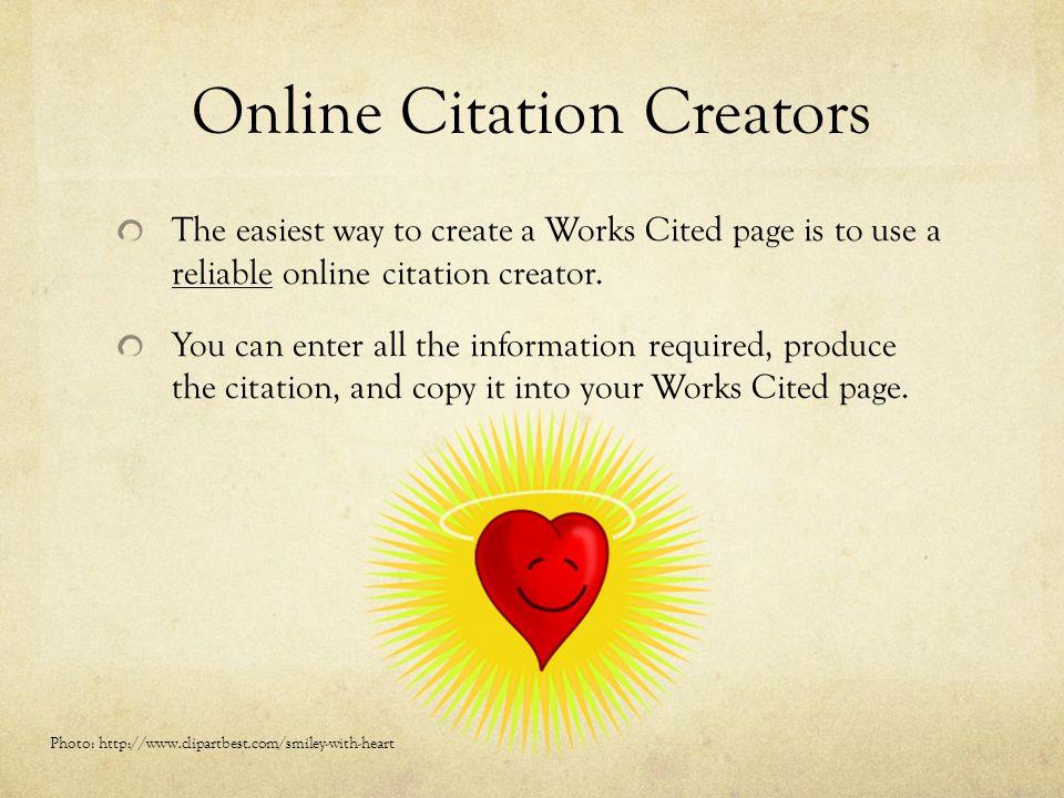 Online Citation Creators