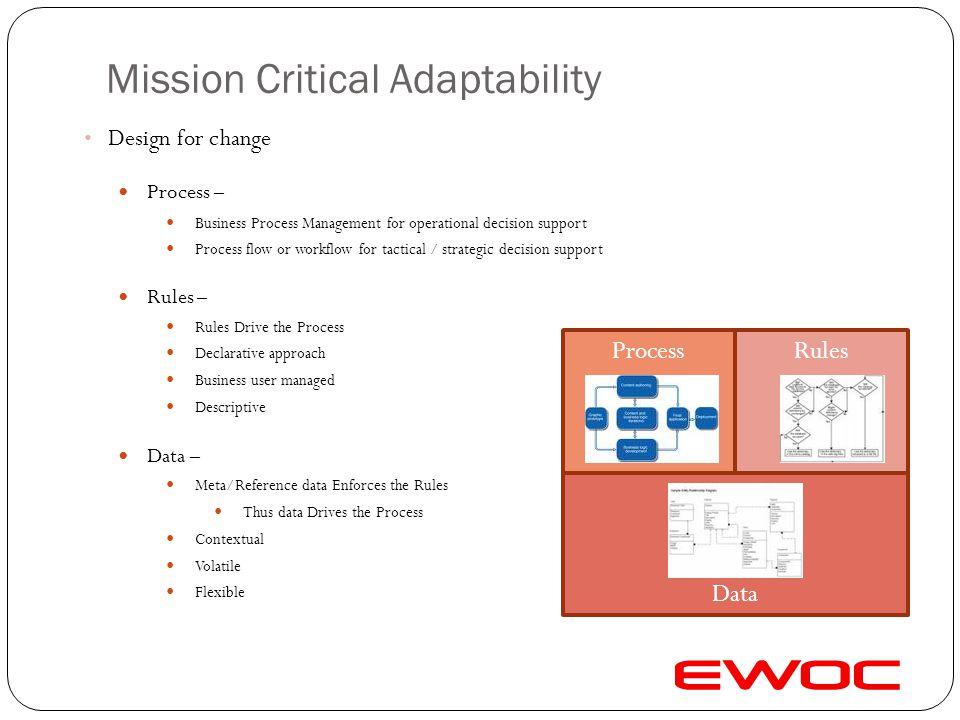 Mission Critical Adaptability