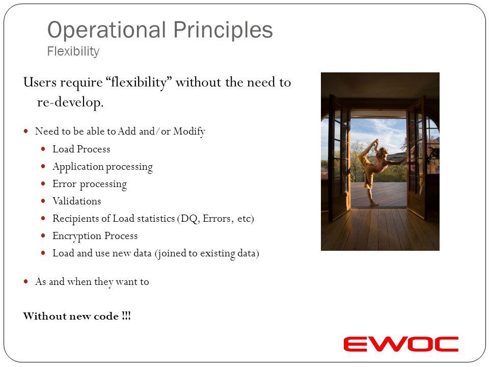 Operational Principles Flexibility
