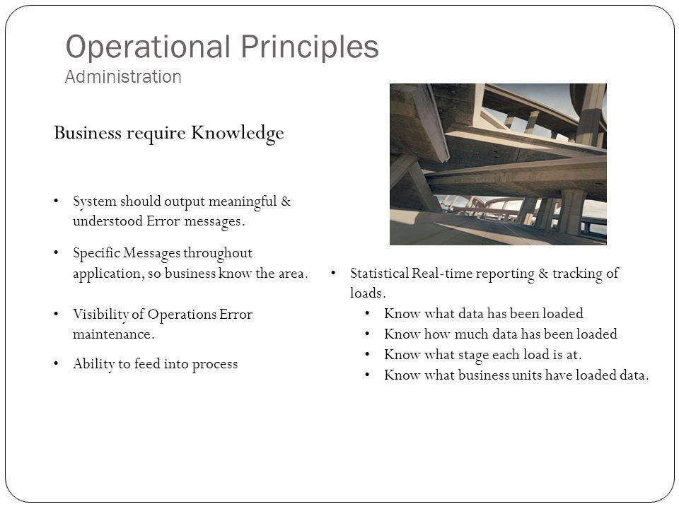 Operational Principles Administration
