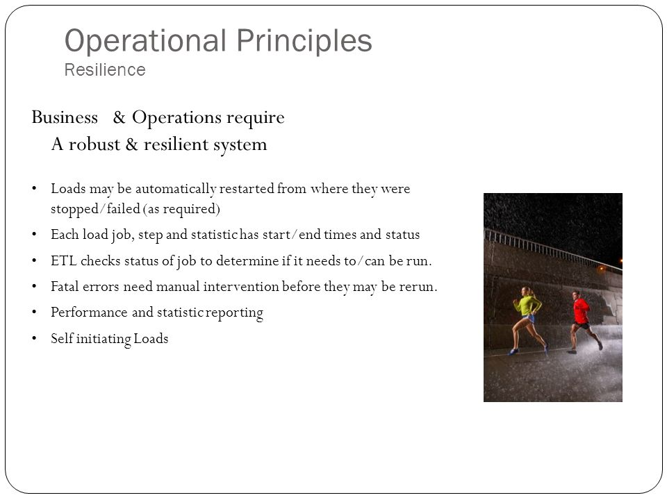 Operational Principles Resilience