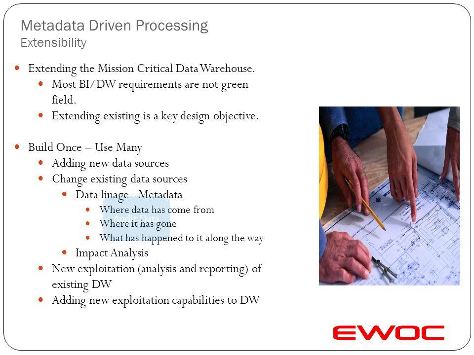 Metadata Driven Processing Extensibility