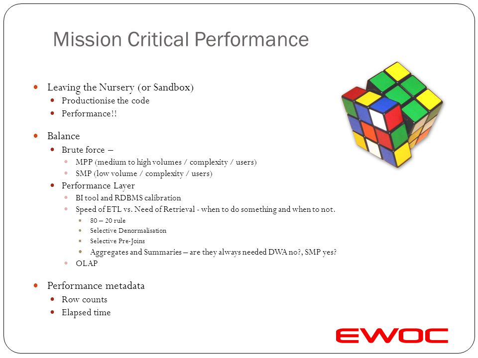 Mission Critical Performance