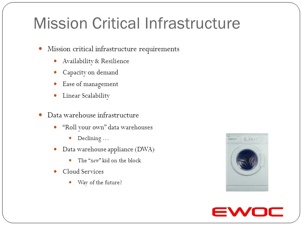 Mission Critical Infrastructure