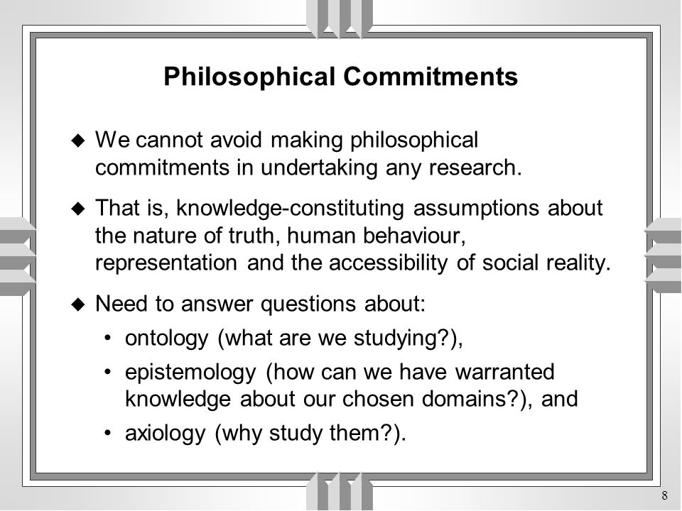 Philosophical Commitments