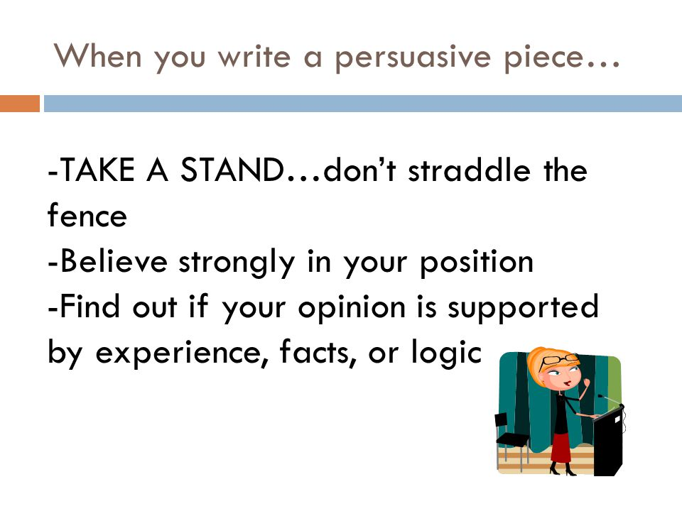important parts of a persuasive essay