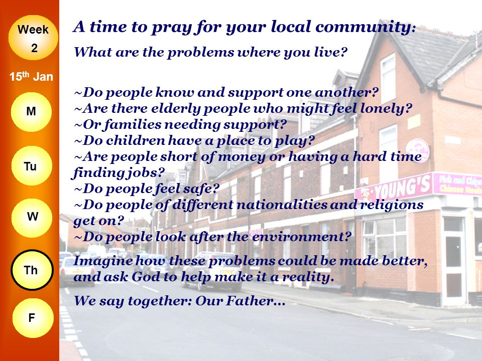 A time to pray for your local community: