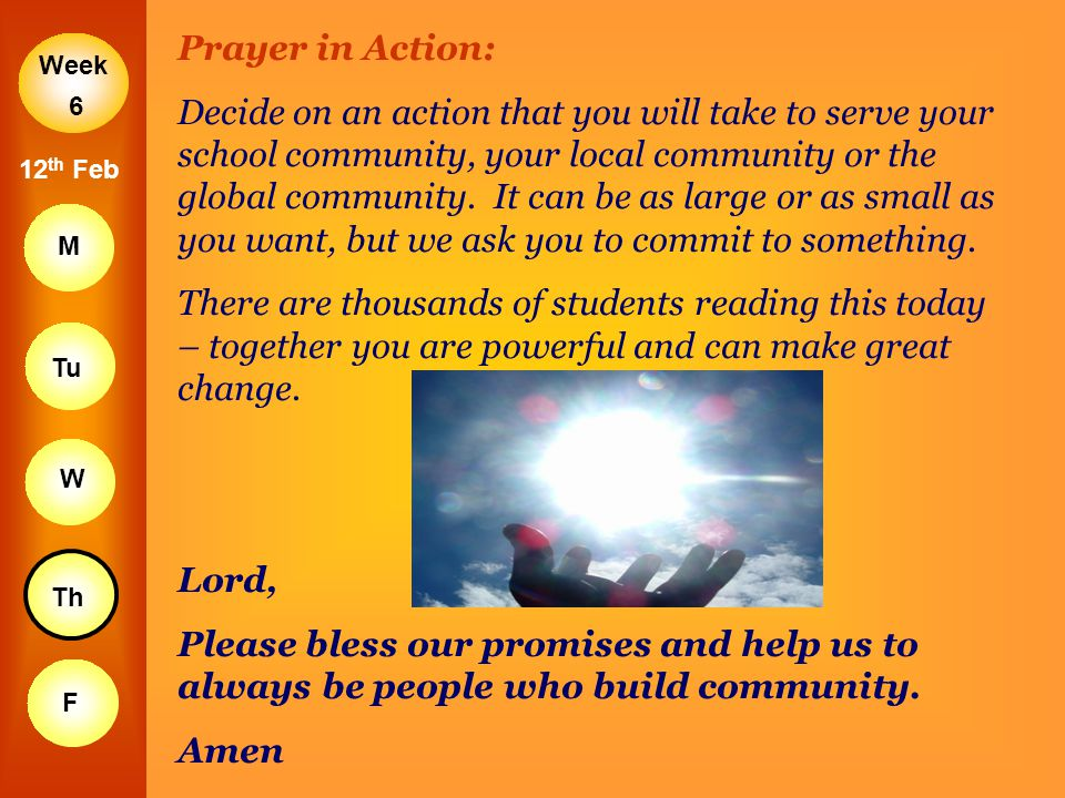 Prayer in Action: