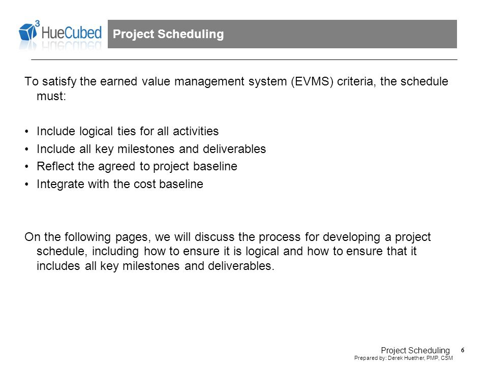 1. Develop the list of project activities