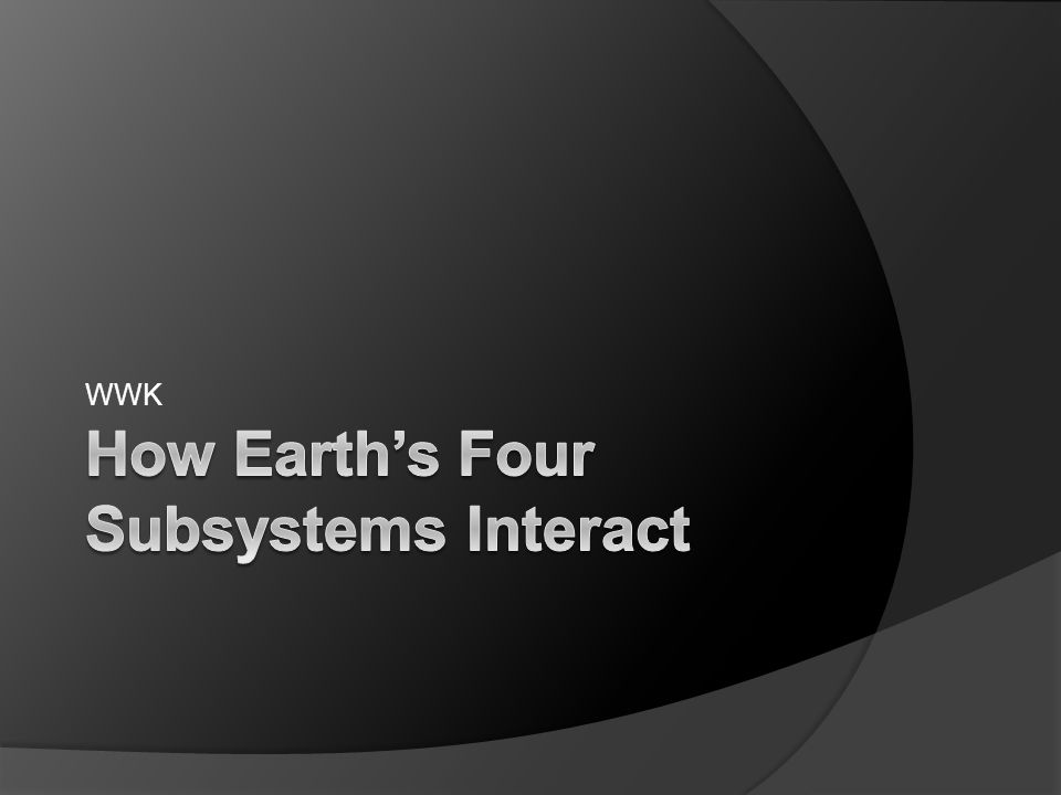 How Earth's Four Subsystems Interact