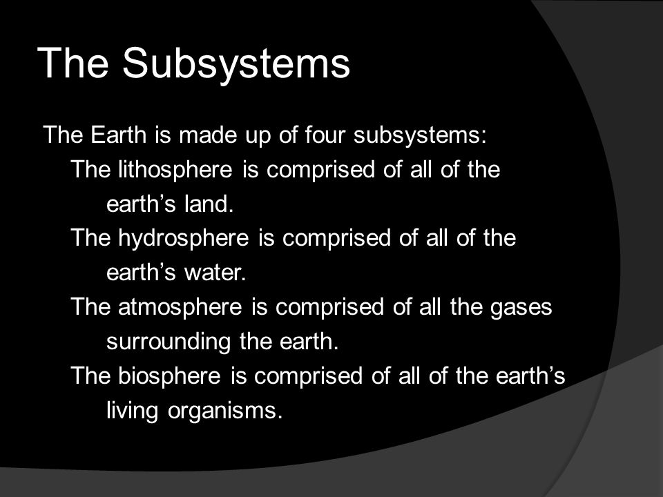 The Subsystems