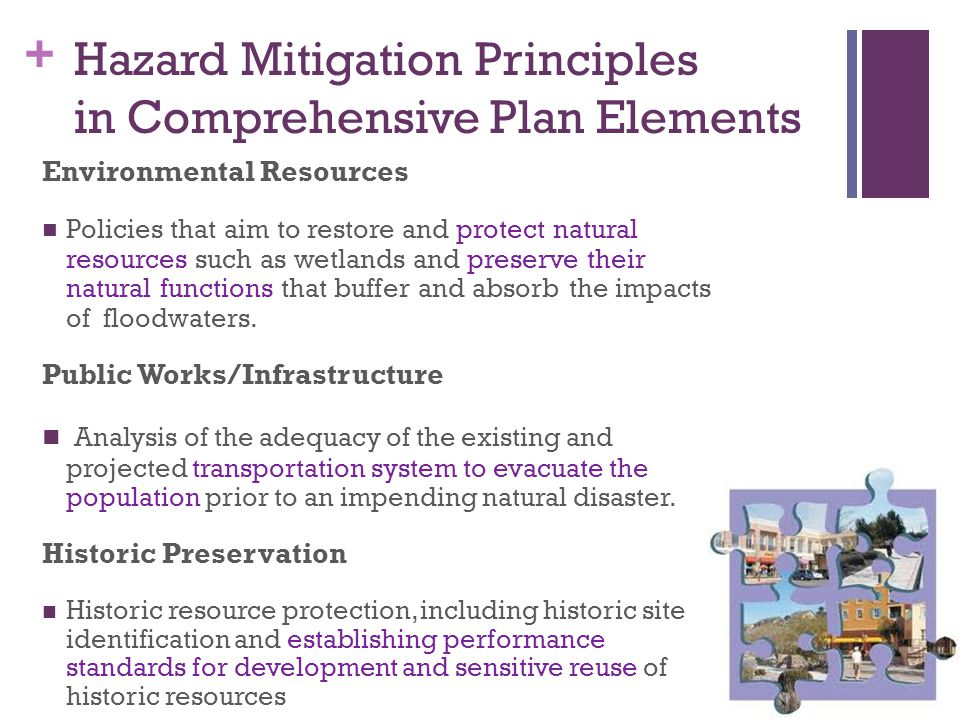 Hazard Mitigation Principles in Comprehensive Plan Elements