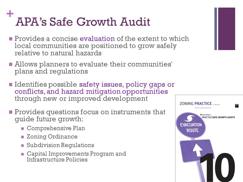 APA's Safe Growth Audit