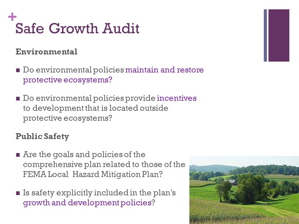 Safe Growth Audit Environmental