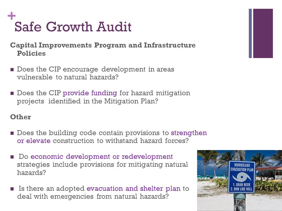 Safe Growth Audit Capital Improvements Program and Infrastructure Policies.