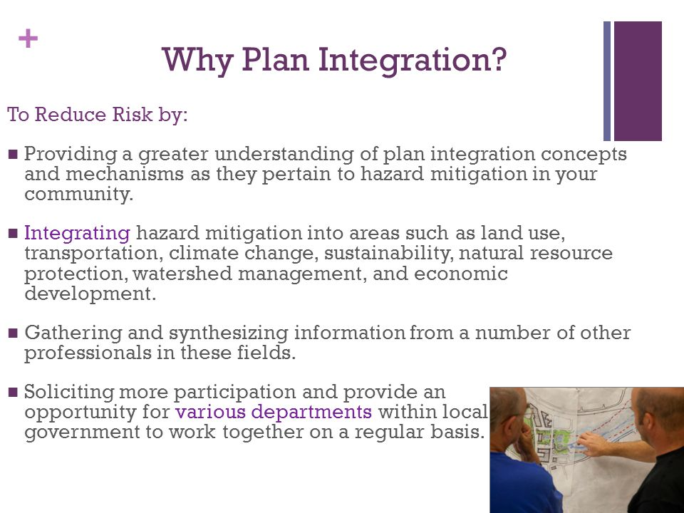 Why Plan Integration To Reduce Risk by: