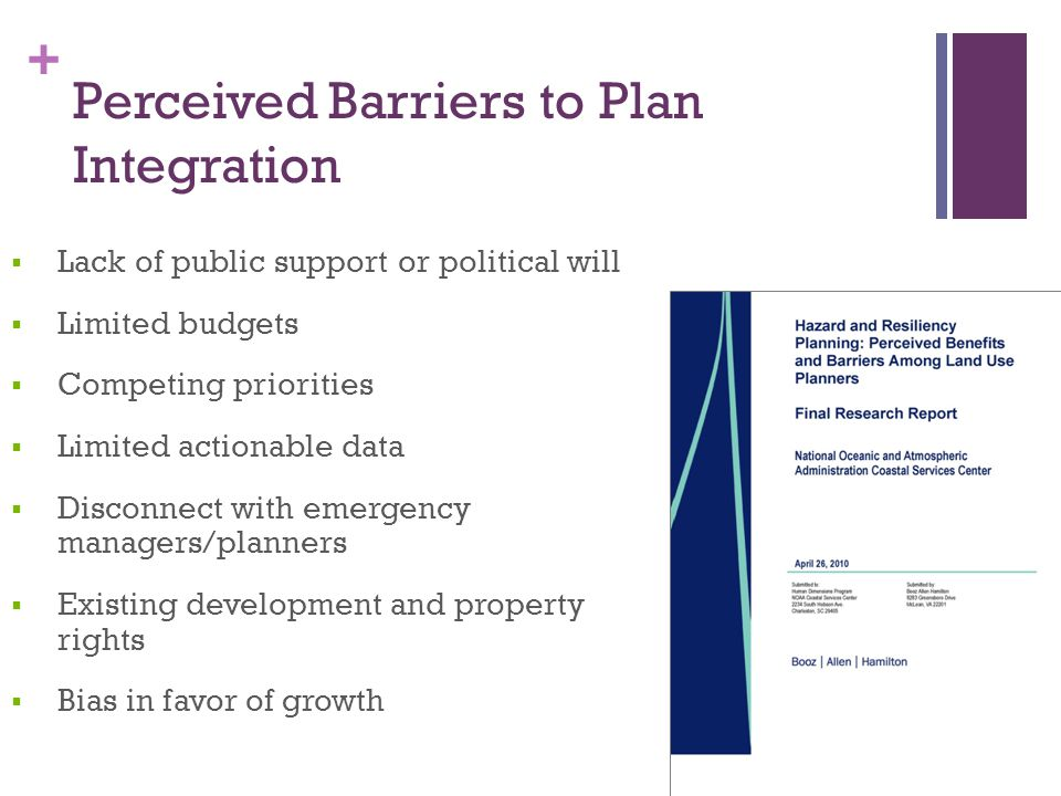 Perceived Barriers to Plan Integration