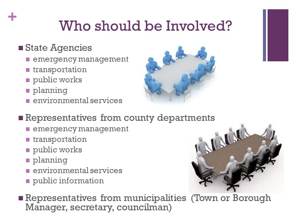 Who should be Involved State Agencies