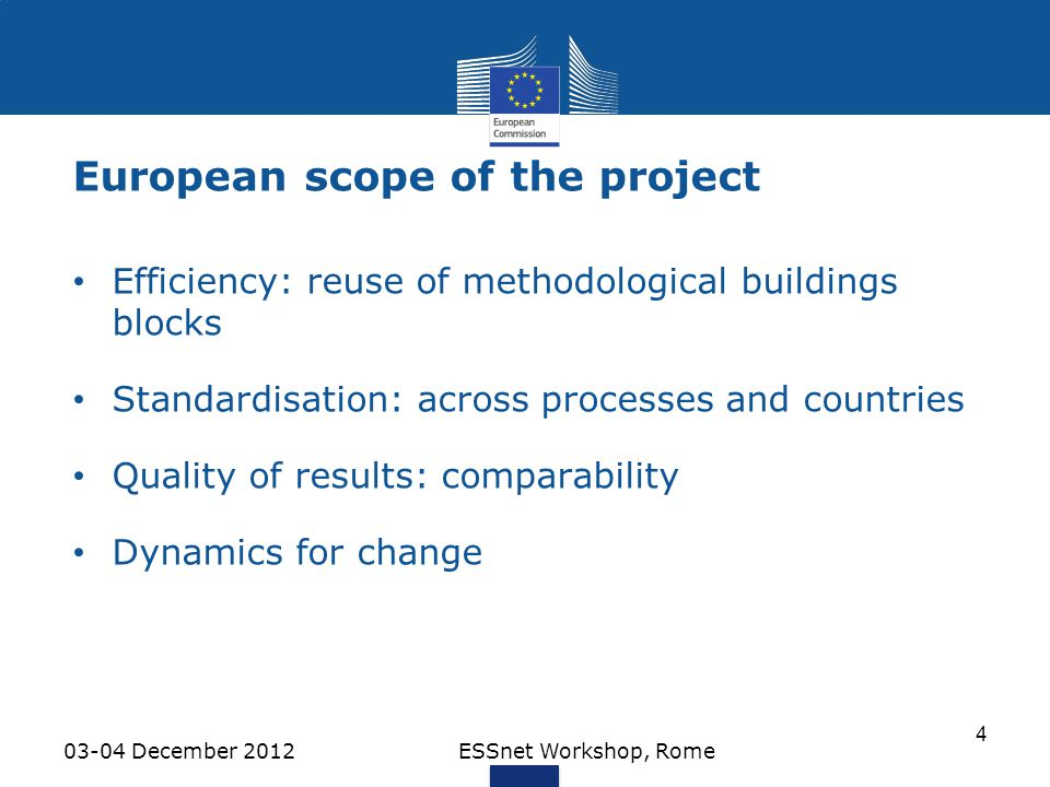 European scope of the project