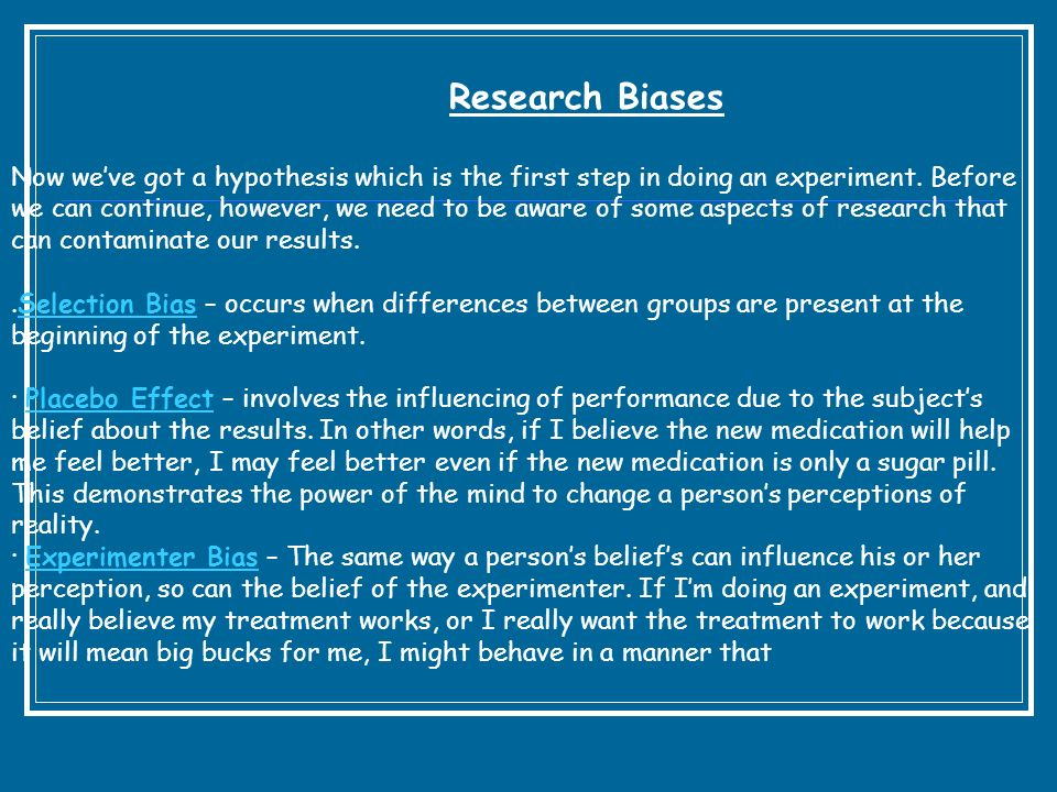 Research Biases