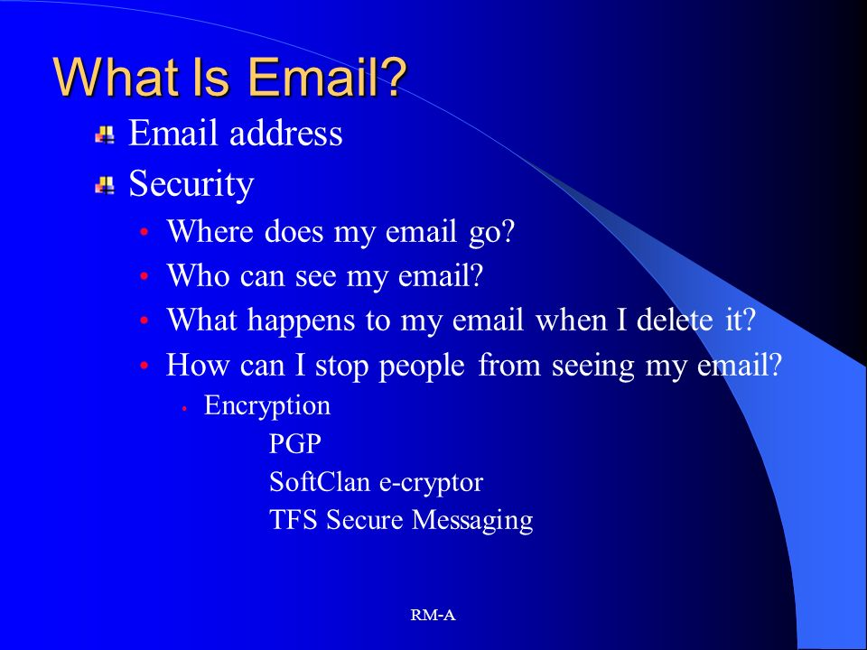 What Is Email Email address Security Where does my email go