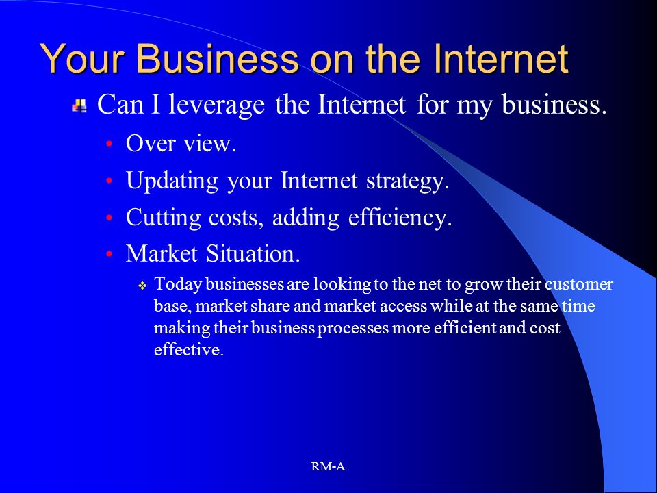 Your Business on the Internet