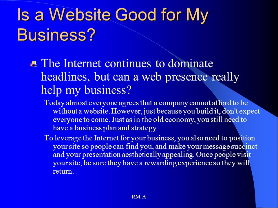 Is a Website Good for My Business