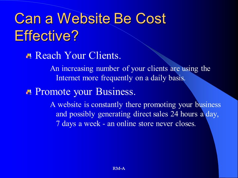 Can a Website Be Cost Effective